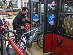 Projeto BRT Bike começou a ser testado nesta sexta-feira (10) em Curitiba (Foto: Maurilio Cheli/SMCS/Divulgação)