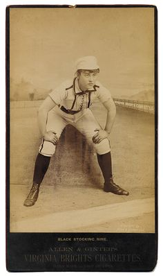 """1886 Allen & Ginter """"Black Stocking Nine"""" Women's Baseball Cabinet Card Baseball Classic, Sports Toys, Vintage Photography, American History, Baseball Cards, Cabinet, Photos, Black, Clothes Stand"""