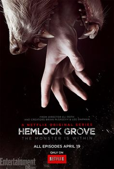 Hemlock Grove Season 1: This was so scary. Similar to American Horror Story with its Erotic Horror Genre, but somehow even more terrifying. Shocking and crazy I couldn't stop watching it. Critique: Last episode was weird and had too much explanation in it. WAY too much blood (maybe what made it so terrifying?). Overall I was held in suspense and thought that the chances they took were bold and extremist--- which is always cool to see.
