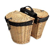 - Durable rattan or willow construction - Genuine leather straps - Maximum load capacity of 10 pounds - Internal dimensions: 30cm L x 23.5cm W x 23cm H