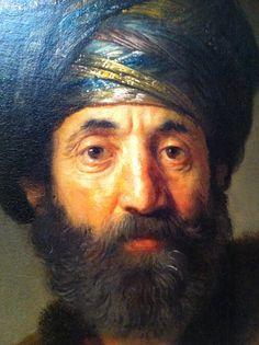 Detail of 'Man in Oriental Costume' - Rembrandt & workshop