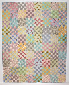 Custom Made Wedding Quilt Twin Quilt Garden by KarenGriskaQuilts