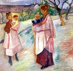 Edvard Munch  Mothers with children - 1906