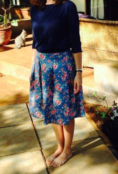 Pleated full skirt with Cath Kidston style fabric. How jolly!