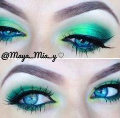 bright green eye makeup