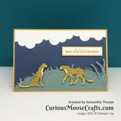 Moose Crafts, Cheetahs, Big Cats, Stampin Up, Moose Art, Challenges, Clouds, Crafty, Animals