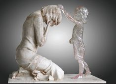 sculpture that captures post-abortion miscarriage and loss of child pain.