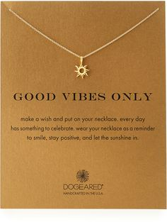 Dogeared Gold-Dipped Good Vibes Necklace | ≼❃≽ @kimludcom