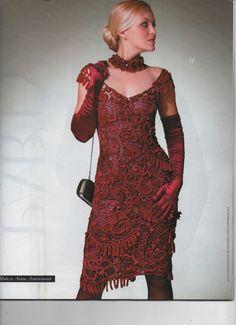 Stricken häkeln Damen Kleid Cardigan Irish Lace Muster Blumen Verzierung Mädchen Mode Magazin 562 Dezember 2012