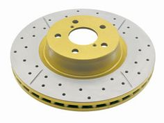 I want to replace the stock rotors on my new Dodge Challenger with drilled and slotted performance rotors.