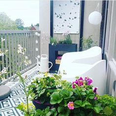 The balcony is an area of the house where you can instantly enjoy the outdoors while staying right in your … Tiny Balcony, Balcony Design, Balcony Garden, Small Balconies, Privacy Walls, Balcony Railing, Outdoor Chairs, Outdoor Decor, Enjoy Summer