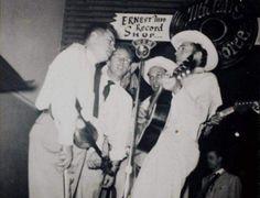Rambling Man — hankwilliamsramblingman: Hank at Ernest Tubb...