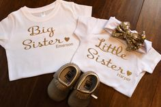 Big Sister Little Sister Set with heart, Big Sister Heart, Big Sister, Little Sister Heart, Little Sister, Sister Glitter Shirts by Thepurpleaspen on Etsy Big Sister Big Brother Shirts, Big Sister Little Sister, Little Sisters, Sisters By Heart, Glitter Shirt, Trending Outfits, Baby, Clothes, Women