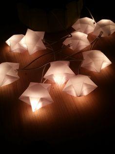 Freebie für den Plotter Sillhouette Sterne für eine Lichterkette 3 D stars