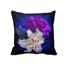 #pillows #forhome #flowers #zazzle #elenaindolfi Magic Flowers American Mojo Pillow by elenaind