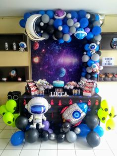 Rocket Birthday Parties, Birthday Party Decorations, 2nd Birthday, Astronaut Party, Moon Party, Space Party, Birthday Balloons, Nasa, First Birthdays
