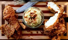 Egg whites allow bread crumbs to stick to the surface of fried food. http://www.sheknows.com/food-and-recipes/articles/955127/how-to-set-up-a-standard-breading-station