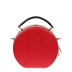 Dolce & Gabbana Red Leather Anna Bag found on Polyvore