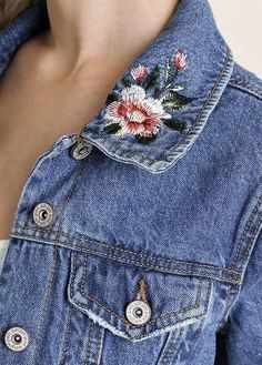 Embroidered Denim Jacket – Lily Grace Boutique #fashionstylesforwomendenimjackets