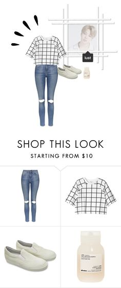 """""""Back from school.!"""" by kyungsooxox ❤ liked on Polyvore featuring Topshop, Monki, The Last conspiracy, Davines and Old Navy"""