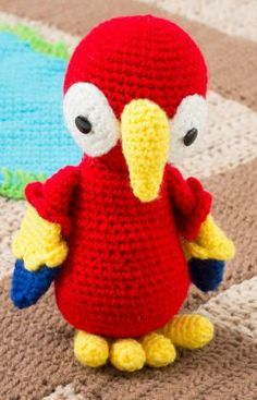 Parrot Pals Free Crochet Pattern from Red Heart Yarns