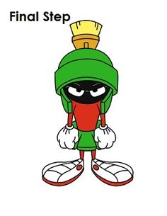 Draw Marvin the Martian Last Step