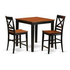 //Beige 3-piece Pub Table Set