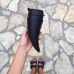 Black coffee in a black Mug ☕️