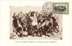 Portuguese D. Nuno Alvares Pereira at Battle of Atoleiros 1384 against Castilian army