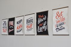 hand lettering type banner graphic design minimal typography