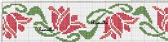 Easier potential towel - but also boring. Cross Stitch Geometric, Cross Stitch Borders, Cross Stitch Flowers, Cross Stitch Designs, Cross Stitching, Cross Stitch Embroidery, Hand Embroidery, Cross Stitch Patterns, Embroidery Patterns Free