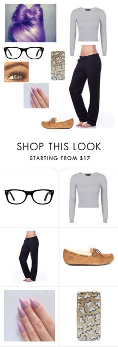 """@ Nate's house w/Nate Maloley"" by mell-rosee ❤ liked on Polyvore featuring Ray-Ban, Topshop, Vipe and UGG Australia"