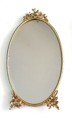 MATSON Gild Oval Mirror Filligree Frame by KMalinkaVintage on Etsy,