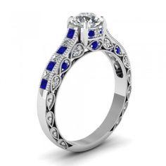 Round Cut Women's White Engagement Ring/Wedding Ring