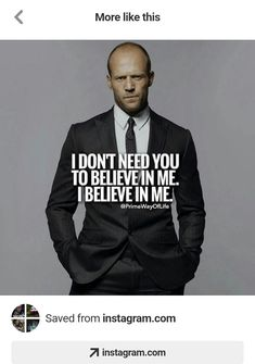 Quotes for Motivation and Inspiration QUOTATION - Image : As the quote says - Description KingPinner BobbyGinnings Wisdom Quotes, Me Quotes, Motivational Quotes, Inspirational Quotes, Qoutes, I Believe In Me, Gentleman Quotes, Warrior Quotes, Badass Quotes