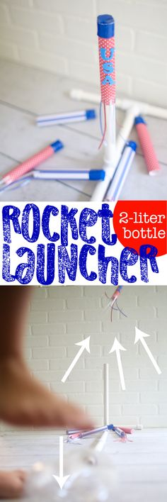 DIY Stomp Rocket: This Rocket Launcher is made with PVC pipe and a 2-liter bottle! So