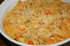 Crawfish Velveeta Fettucine from DeepSouthDish.com.  YUMMMM!!!  Might use bowtie pasta instead of fettucine?