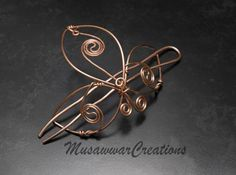 Yin Yang Hair Bun cage Copper hair bun slide by MusawwarCreations
