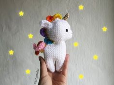 Flower Button: Free unicorn amigurumi pattern by Ms. Amigurumi Patterns, Amigurumi Doll, Crochet Patterns, Crochet Mermaid, Crochet Unicorn, Crochet Horse, Diy Crafts To Do, Crochet Gratis, Button Flowers