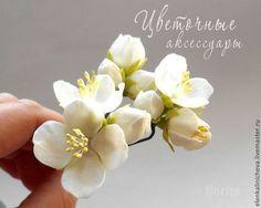 """Купить Шпильки """"Белый жасмин"""" для свадебной прически. - белый, свадьба, свадебные аксессуары, свадебное украшение"""