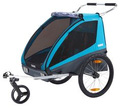 Take your little ones along for the ride in the Thule Coaster XT Bike Trailer. The mesh-sided cabin has comfortable seats and safety harnesses for two kids (up to 100 lb. total), and attaches easily to most standard bicycles. When you arrive, it converts quickly into a stroller and folds easily for compact storage.DETAILS THAT MATTER Comfortably seats 2 children. Height Right adjustable handlebar for parent's comfort. Allows for easy conversion from cycling to strolling. Securely attaches to bik Chariot Velo, Thule Bike, Trailer Kits, Convertible, Wakeboard, Jogging Stroller, Baby Jogger, Roll Cage, Buggy