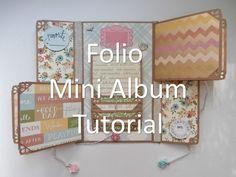 Mother's Day Folio Mini Album Tutorial                                                                                                                                                                                 Más