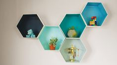 Isabelle Verona : DESAFIO DIY: Nichos Hexagonais de Papelão