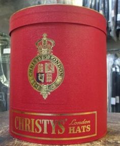 Red Double Hat Box by Christys'