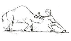 De koe bij de horens vatten (pakken, grijpen) .  Betekenis: met een lastige zaak beginnen. / een zaak krachtig aanvatten.  E: To take the bull by the horns. / To grab the bull by the horns.  F: Prendre le taureau par les cornes.  D: Den Stier bei den Hörnern fassen. / Den Stier bei den Hörnern packen.  I: Prendere il toro per le corna.  P: Agarrar o touro pelos cornos.  S : Coger el toro por los cuernos. Dutch Quotes, Language, Posters, Teaching, Education, School, Art, Taurus, Art Background