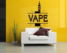 Removable Vinyl Sticker Mural Decal Wall Decor Poster Art Vaporizer Vape Smoke Shop E Cigarettes Liquid Coil Indoor Outdoor Sign Logo SA724