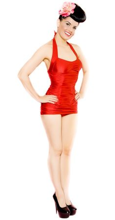 RED RUBY GIRL RETRO SWIMWEAR