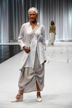 Fashionable woman over 50