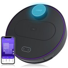 360 Robotic Vacuum Cleaner for Wet Dry Use - Black Vacuum Cleaner Sale, Vacuum Cleaners, Im App, Smart Robot, Best Vacuum, Works With Alexa, Wet And Dry, Water Tank, Pug Dogs