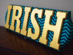 Notre Dame IRISH wall decoration by OccasionsByKate on Etsy, $30.00 Go Irish, Luck Of The Irish, Football Crafts, Football Decor, Brian Douglas, Noter Dame, Notre Dame Irish, Notre Dame Football, Win Or Lose